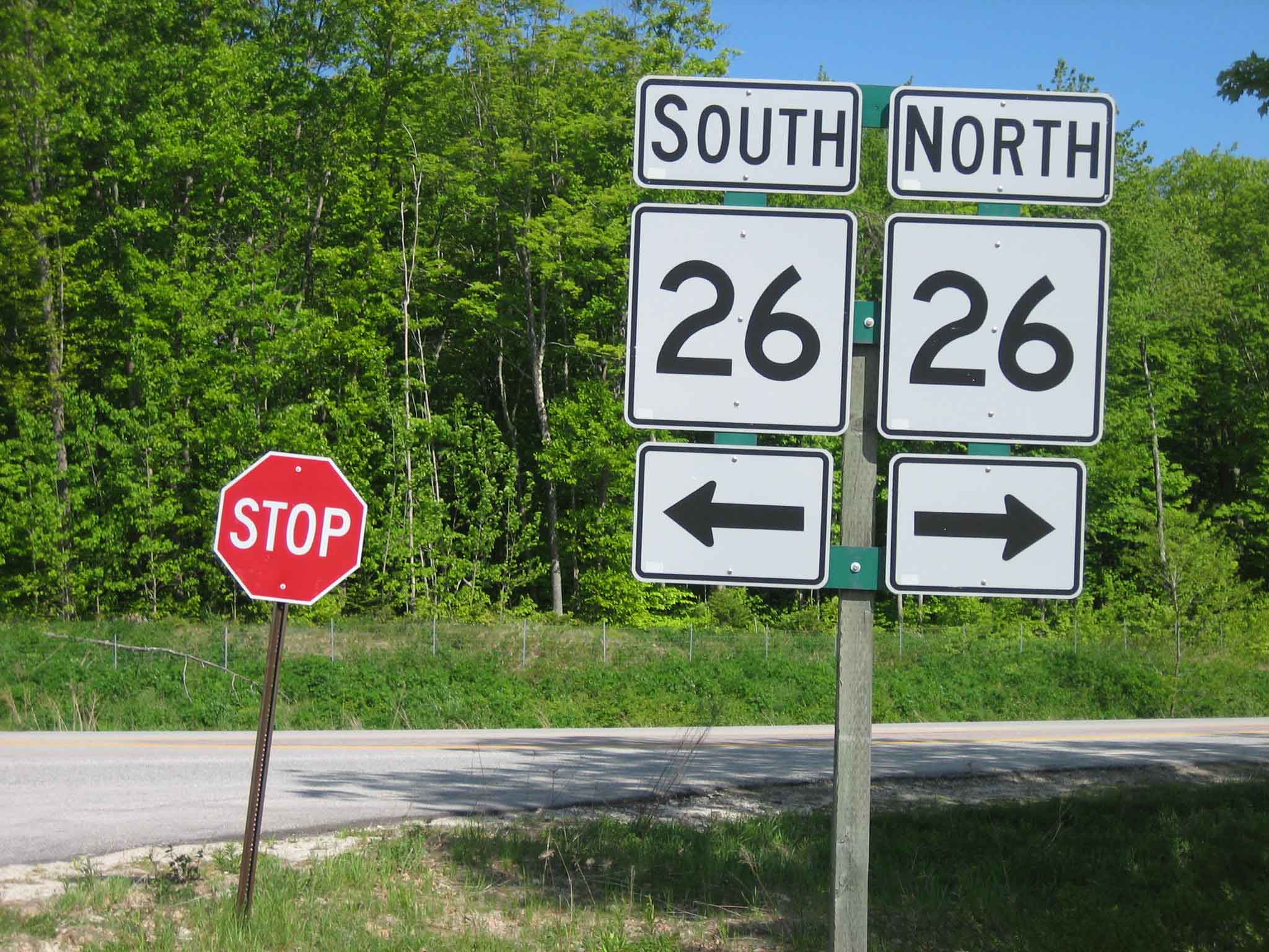 Route 26 Road Signs