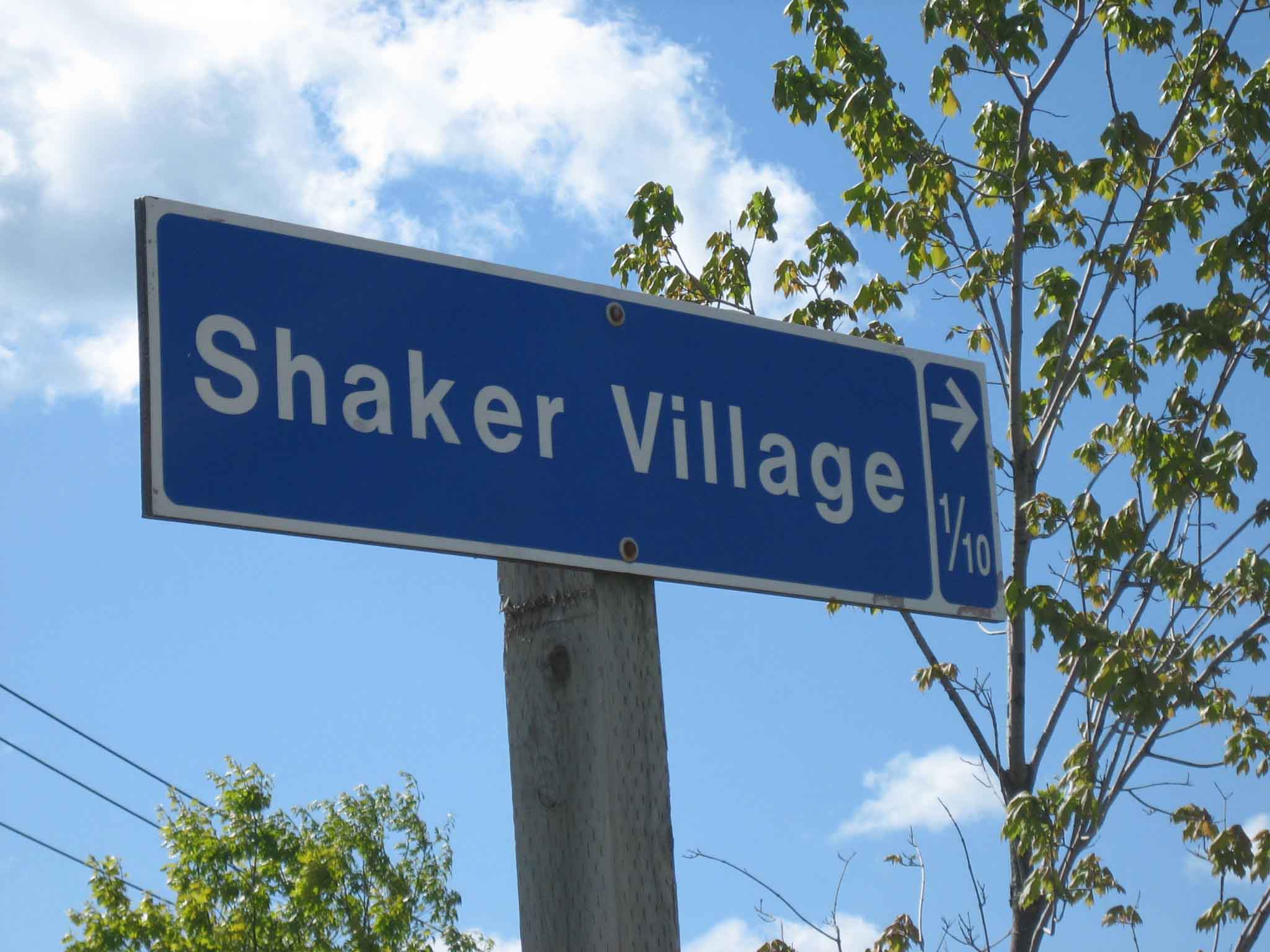 Signs to Shaker Village