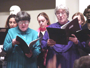 Sister June and Sister Frances singing